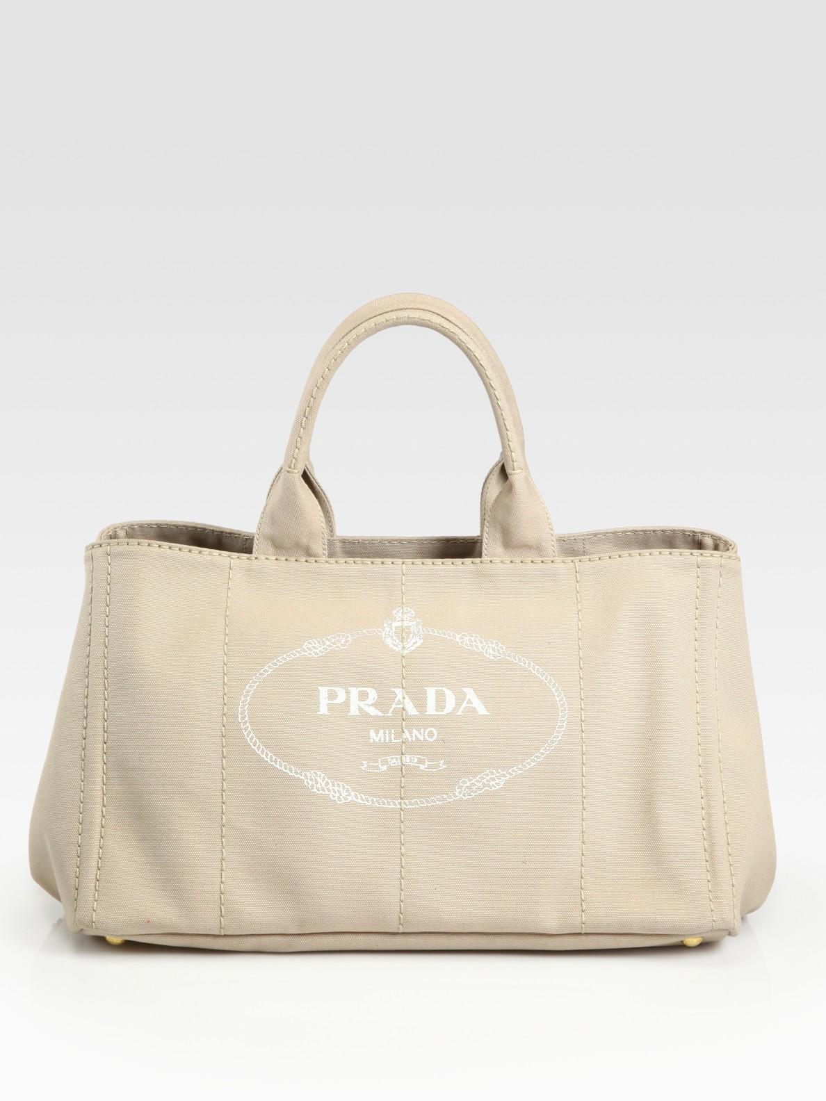 Prada Logo-Printed Leather Tote PuwpQR