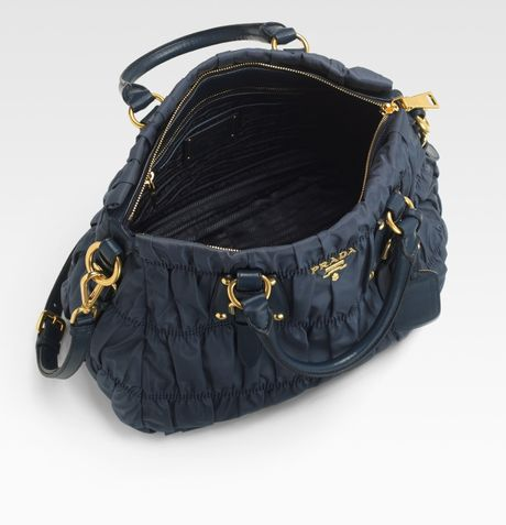 Prada Nylon Gaufre Shoulder Bag \u2013 Shoulder Travel Bag