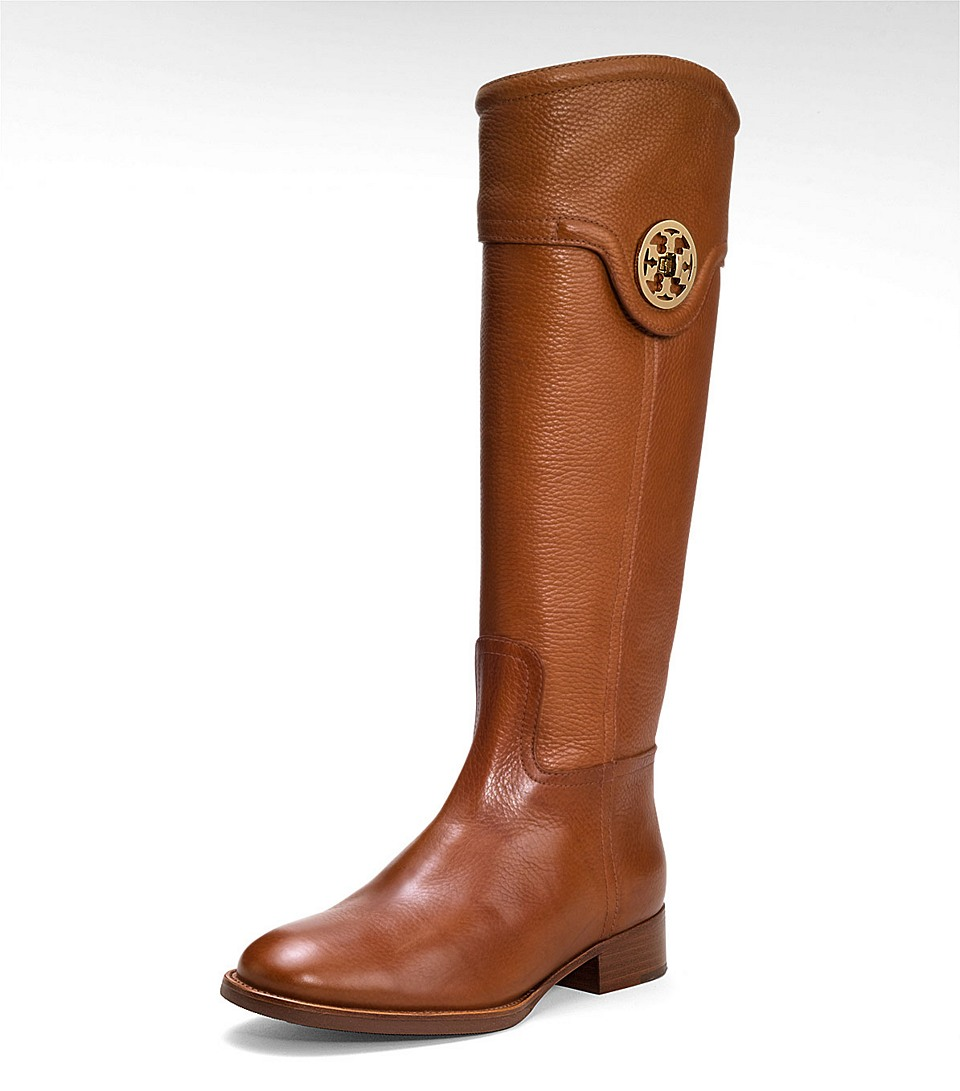 Tory burch Selma Riding Boot in Brown | Lyst