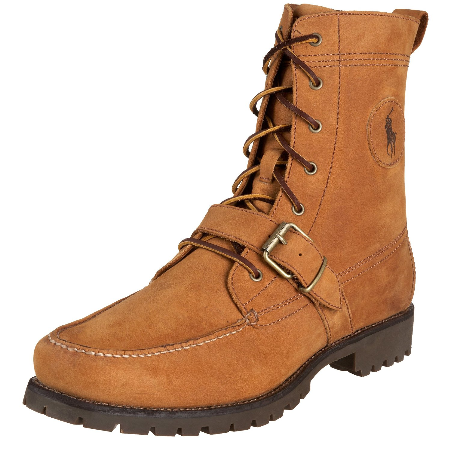 polo ralph mens ranger lace up hiking boot in brown