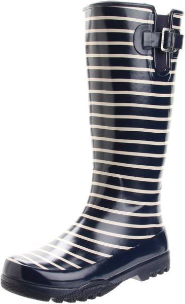 Sperry Top-sider Womens Pelican Mid Calf Boot in Blue (navy stripe)