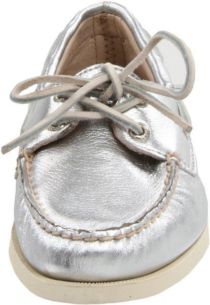 Sperry Top-sider Sperry Topsider Womens Ao Boat Shoe in Silver - Lyst