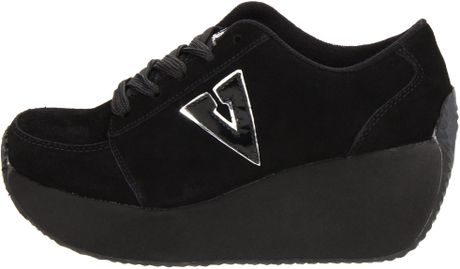 Volatile Womens Elevation Platform Wedge Sneaker In Black