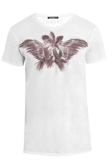 Balmain Feather-print T-shirt - Lyst