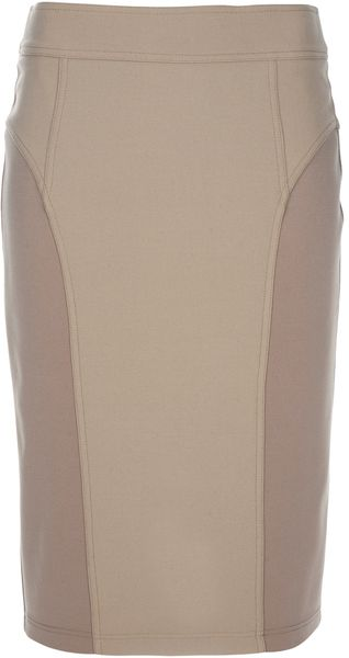 Burberry Pencil Skirt in Beige (camel) - Lyst