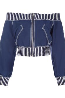Jean Paul Gaultier Off The Shoulder Bomber Jacket - Lyst