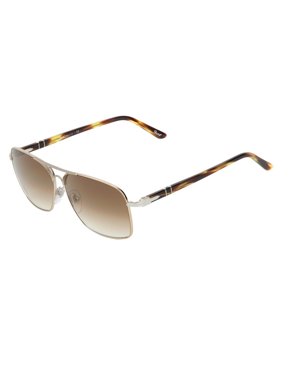 f16b518566aa Lyst Metallic Persol Men For In Frame Square Sunglasses 0zWwqA0S