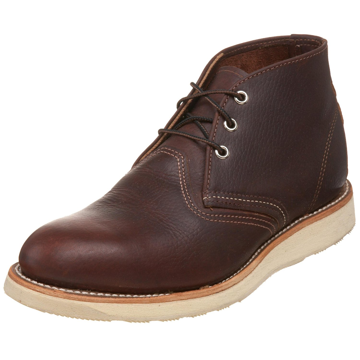 wing shoes mens work chukka boot in brown for