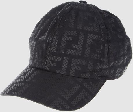 Fendi Baseball Hat In Black For Men Lyst