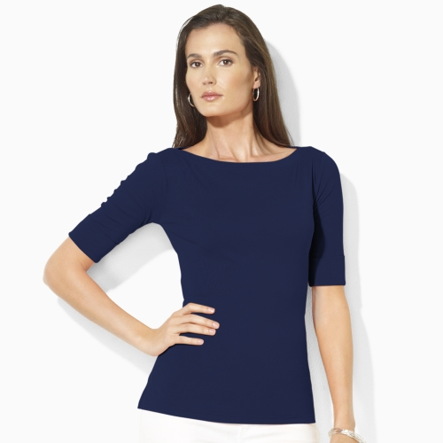 sale retailer great prices buy best Lauren by Ralph Lauren Benny Elbow-sleeve Shirt in Blue - Lyst