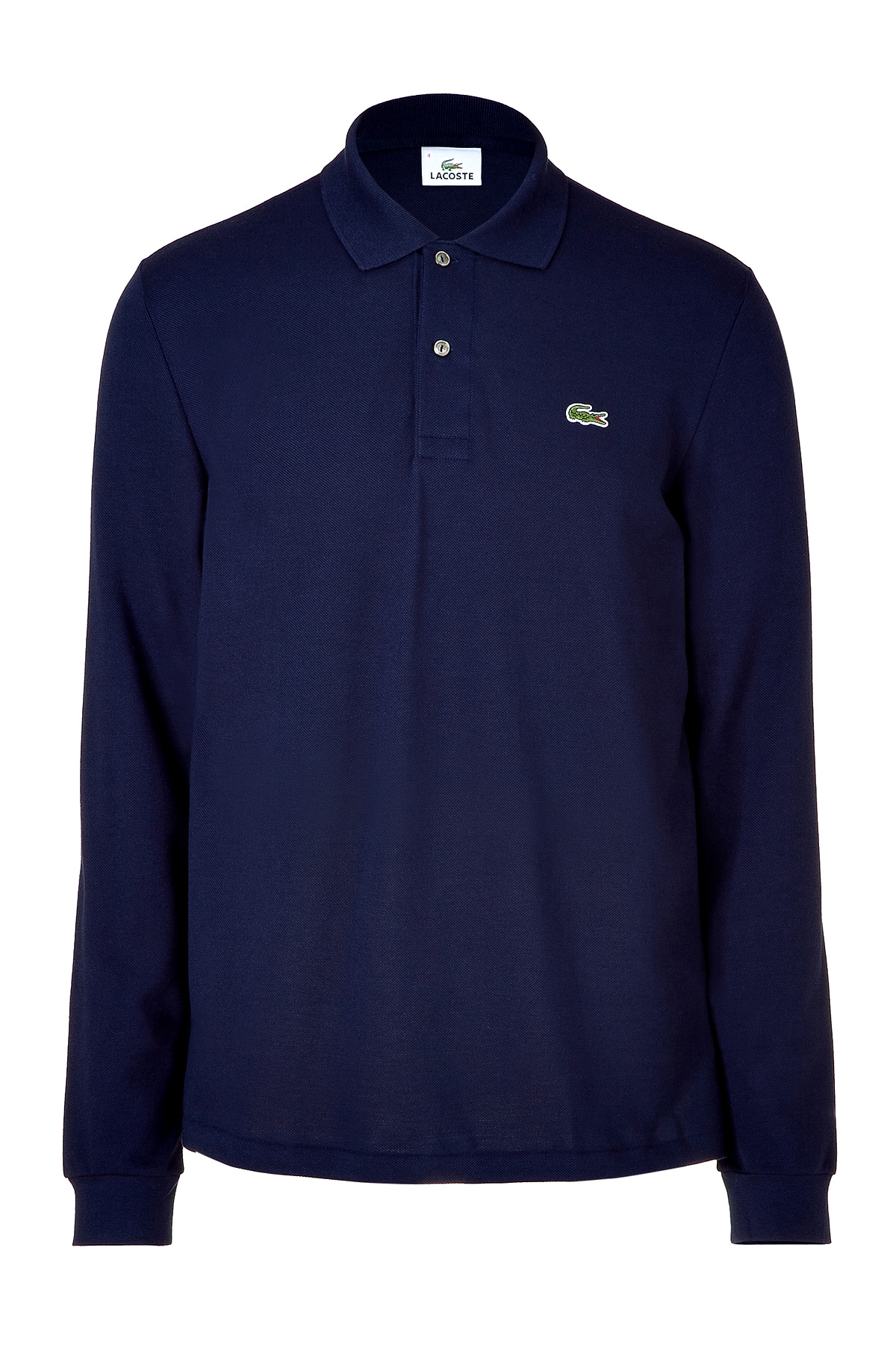 Lacoste Marine Long Sleeve Polo Shirt In Blue For Men Lyst