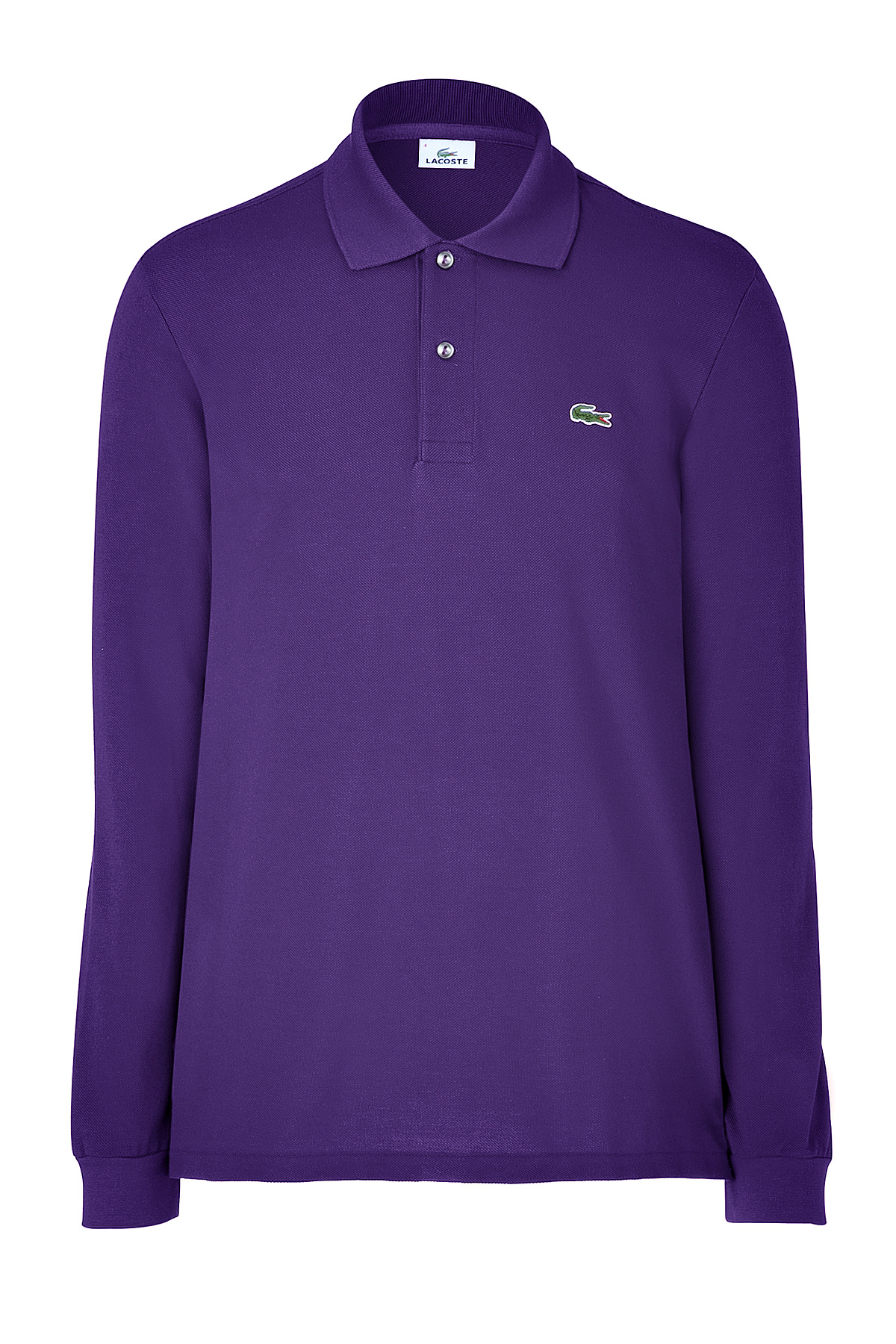 Lacoste violet long sleeve polo shirt in purple for men for Long sleeve purple polo shirt