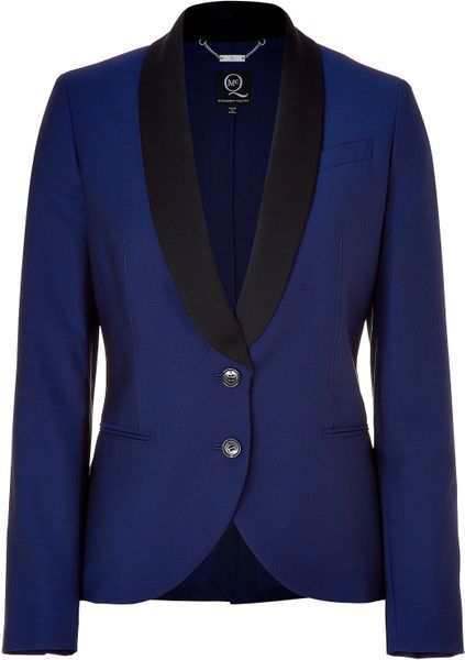 Mcq By Alexander Mcqueen Royal Blue and Black Tuxedo ...