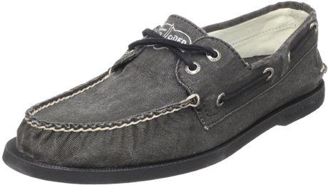 Sperry Top-sider Mens A O Salt Wash Canvas Boat Shoe in Black for Men