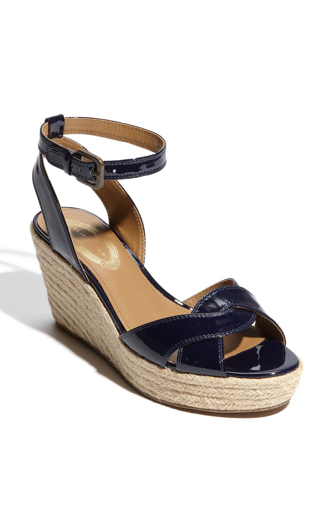 elie tahari wedge sandal in blue atlantic lyst