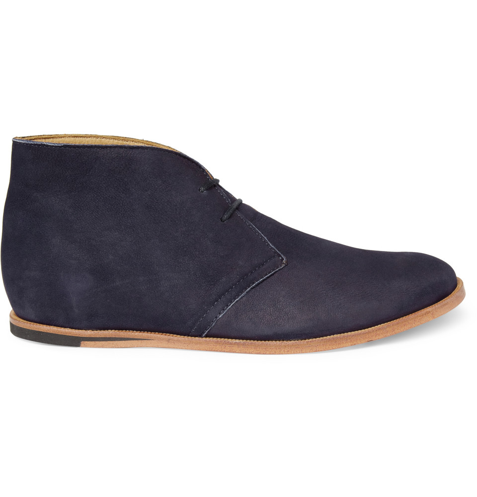 opening ceremony m1 suede desert boots in blue for