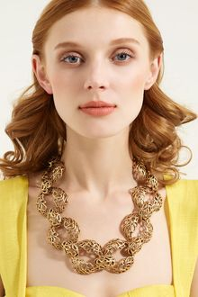 Oscar de la Renta Russian Gold Link Necklace - Lyst