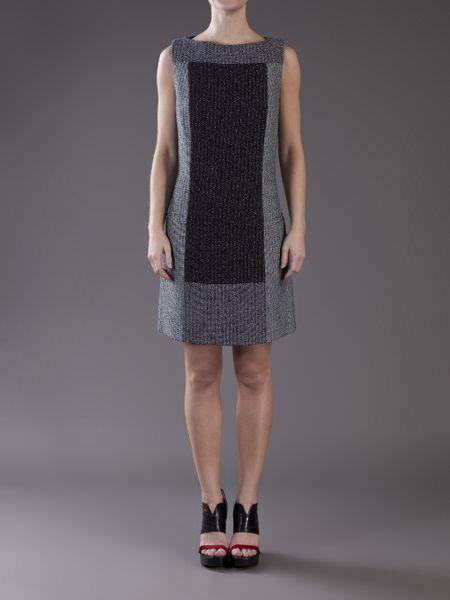 Proenza Schouler Baja Tweed A-line Dress in Blue