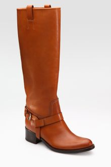 Ralph Lauren Collection Buckle Strap Knee-high Riding Boots - Lyst