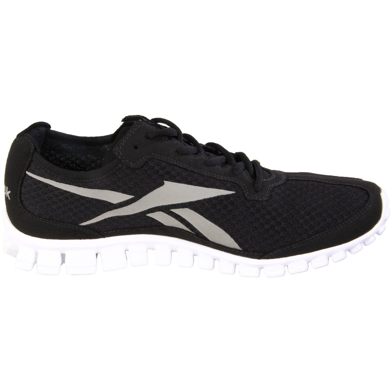 reebok mens realflex runner running shoe in black for men
