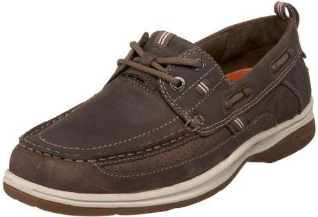 Clarks Unstructured Mens Un Atlantic Boat Shoe in Brown for Men (dark