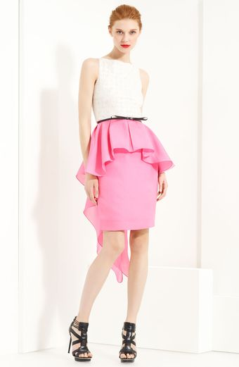 Jason Wu Belted Peplum Dress - Lyst