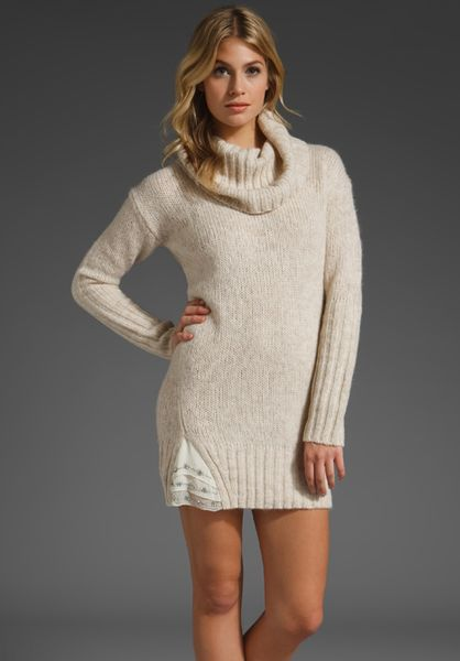 Juicy couture cowl neck dress with embellished chiffon in for French couture dresses