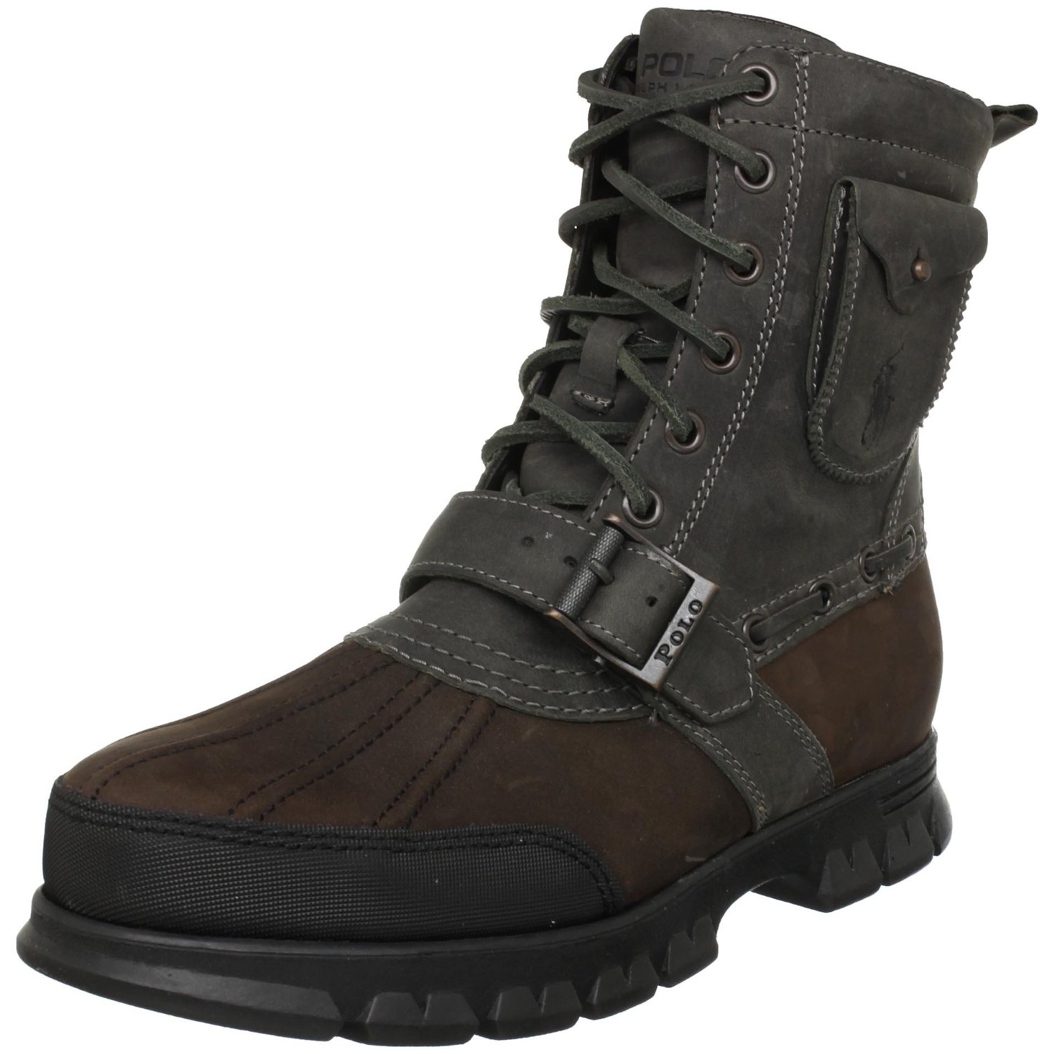 polo ralph mens hamlin ankle boot in gray for