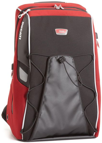 Tumi Ducati Tank Backpack with Shoulder Strap in Red (race