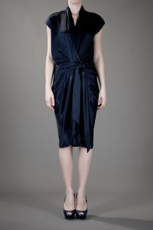 Lanvin Belted Dress - Lyst