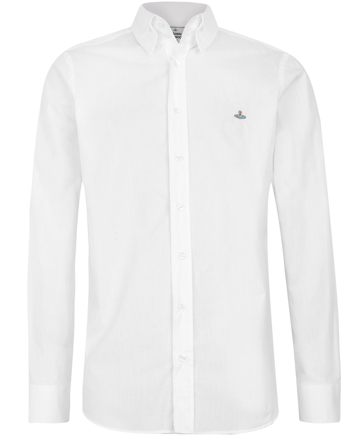 Vivienne westwood white three button collar shirt in white for Three button collar shirts