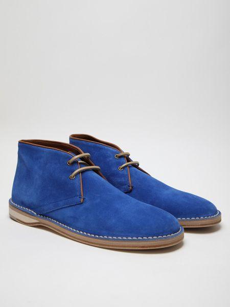 Acne Studios Mens Desert Boot in Blue for Men (desert) - Lyst