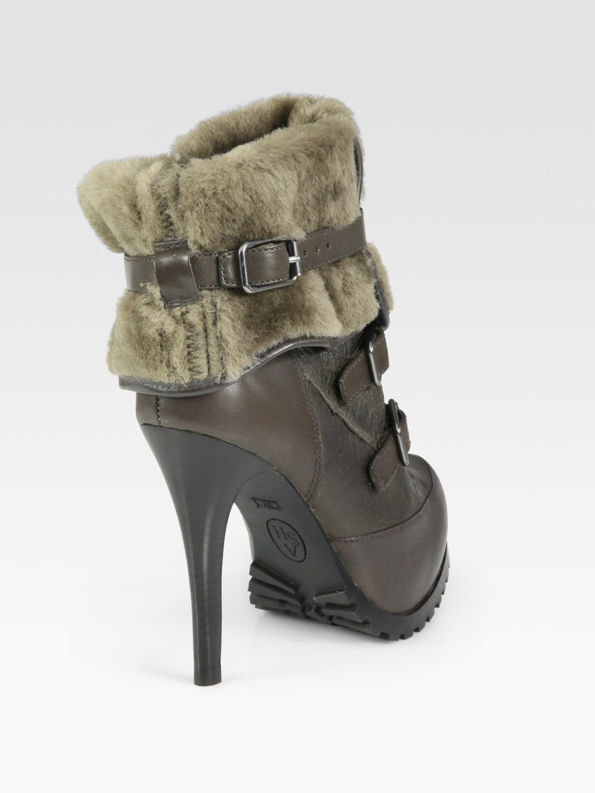 Ash Enigma Faux Rabbit Fur Lined Ankle Boots In Black Lyst