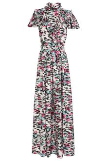 Balenciaga Printed Silk Twill Column Dress - Lyst