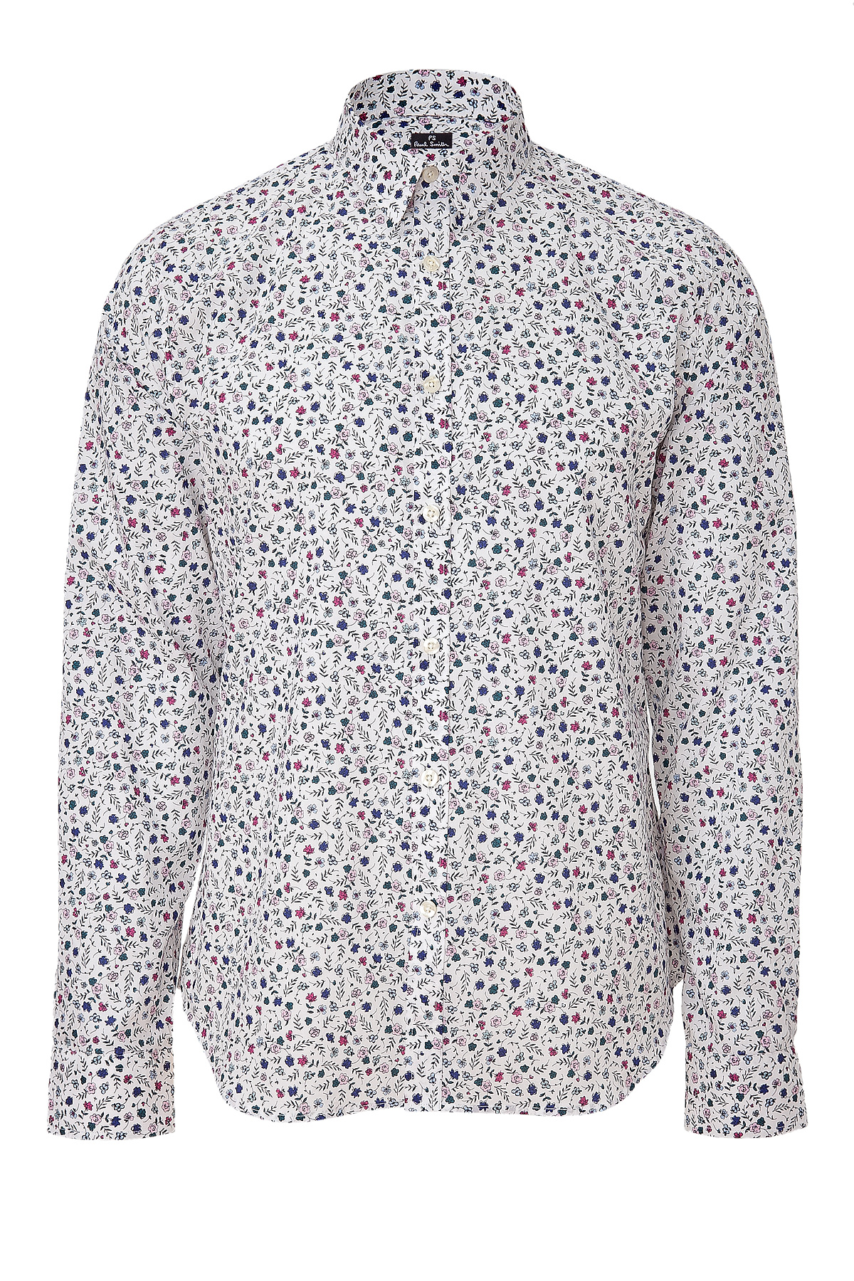Ps by paul smith Floral Shirt in White for Men | Lyst