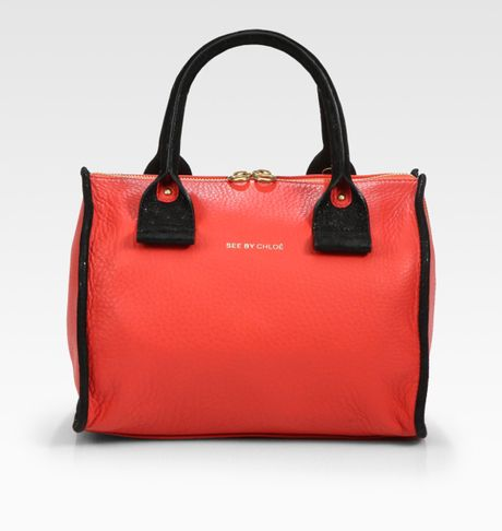 See By Chlo  April Duffle Bag in Red