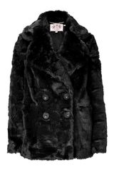 Juicy Couture Black Teddy Short Coat