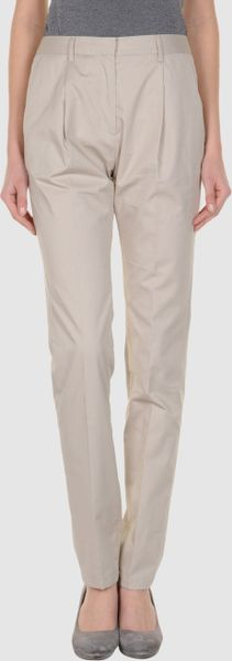 Vionnet Formal Trouser in Beige - Lyst