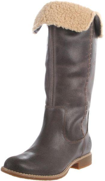 timberland womens shoreham knee high boot in brown