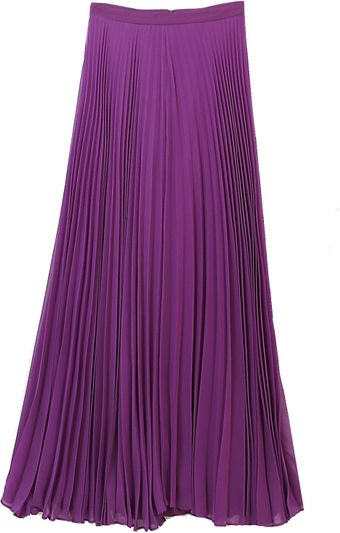 Alice + Olivia Shannon Pleated Maxi Skirt Purple - Lyst