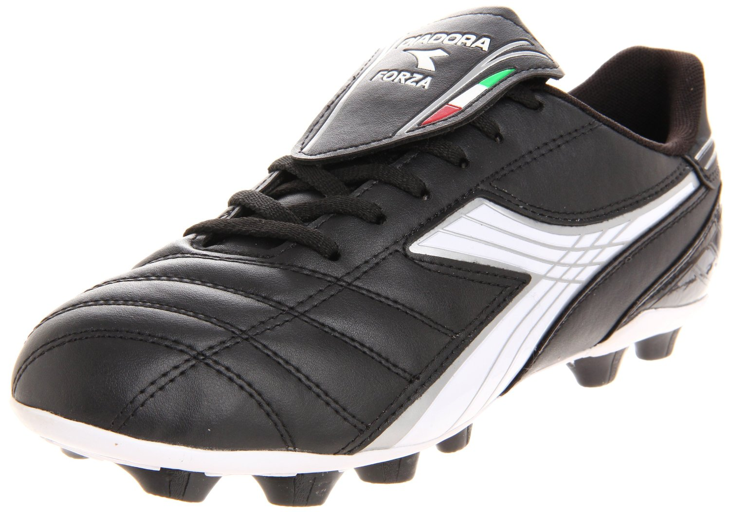 diadora mens forza md soccer cleat in black for black