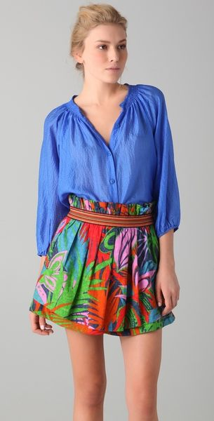Tucker The Blouse in Blue - Lyst
