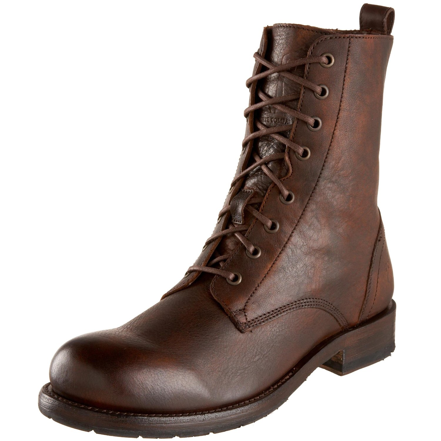 frye mens rogan lace up boot in brown for maple