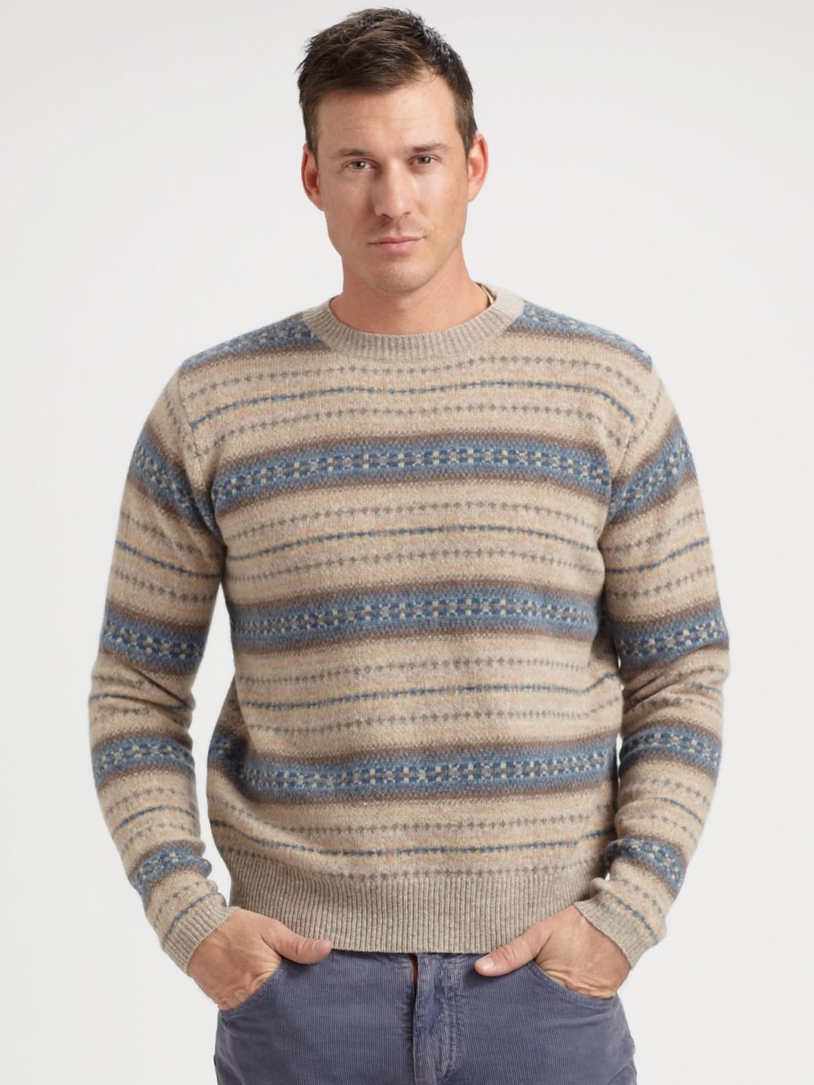 Gant rugger Fair Isle Sweater in Brown for Men   Lyst
