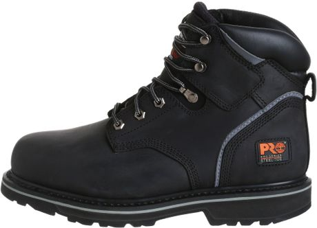 Timberland Pro Mens Pitboss 6 Steel Toe Boot In Black For Men