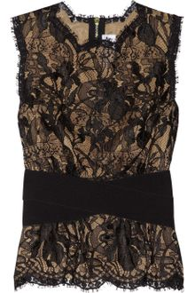 Emilio Pucci Stretch-waist Lace Top - Lyst