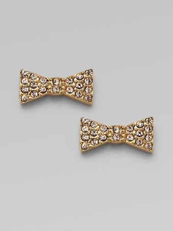 Marc By Marc Jacobs Pavé Bow Stud Earrings - Lyst
