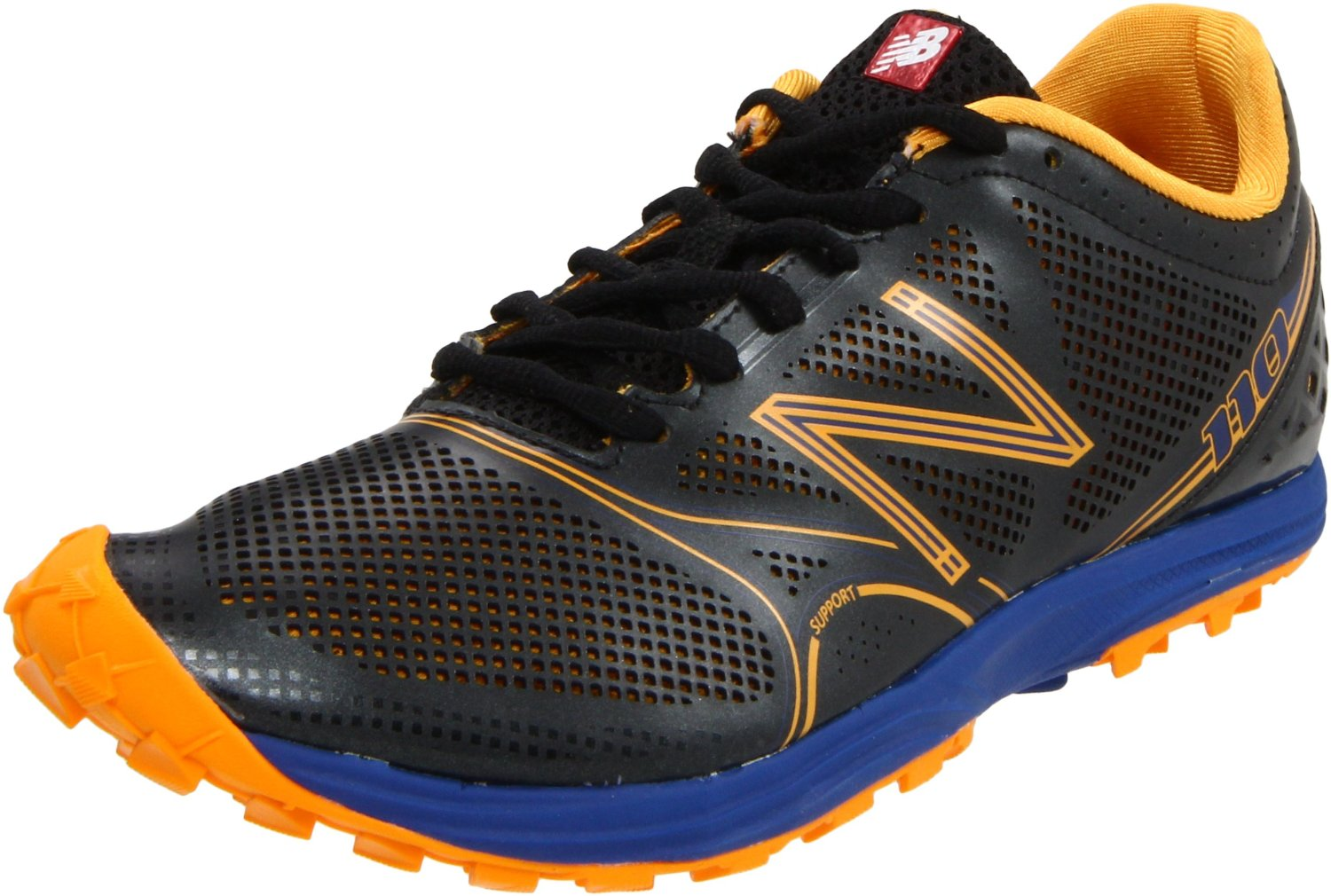 new balance mens mt110 trail running shoe in black for