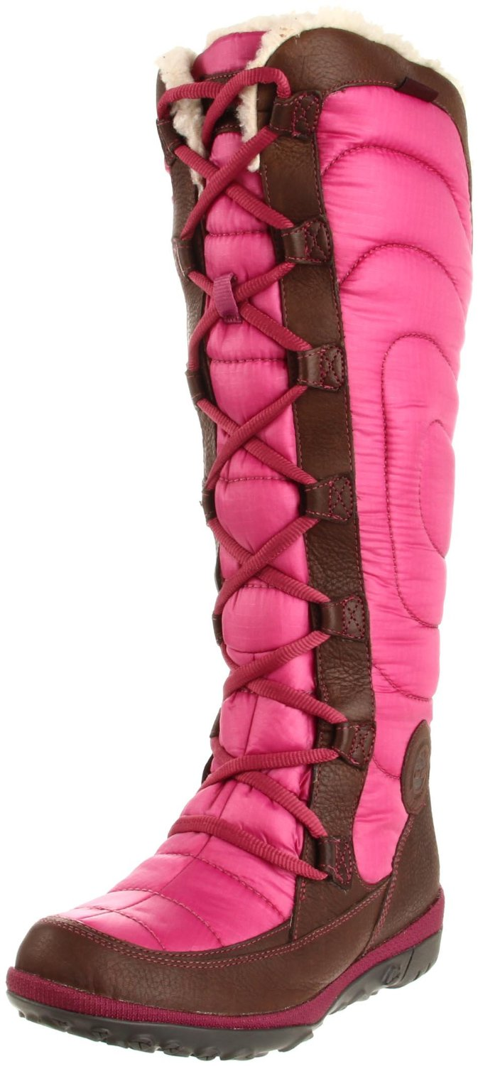 Timberland Crystal Mountain Tall Lace Up Boot In Pink