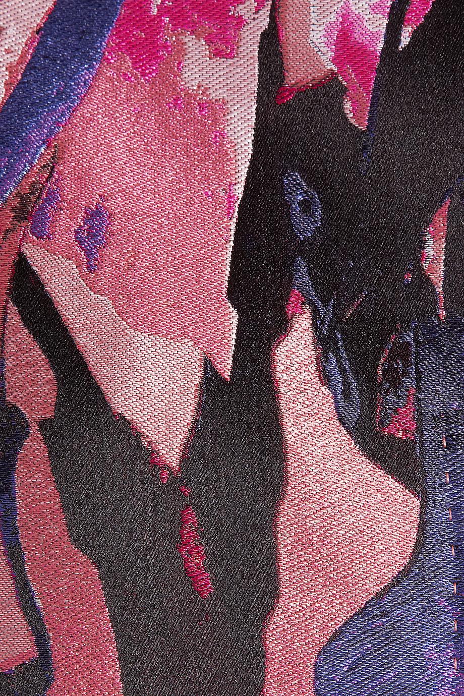 Alexander Mcqueen Jacquard Coat In Pink Lyst